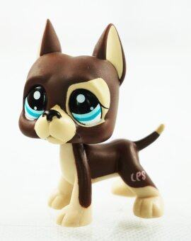 Harga Brown Great Dane Dog Dot Eyes Kids Toys Blue Eyes Littlest Pet Shop LPS 1519