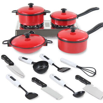 Harga Fancytoy 13 Set Cook Play Toy Mini Kitchen Cookware Pot Pan Kids Pretend Utensils