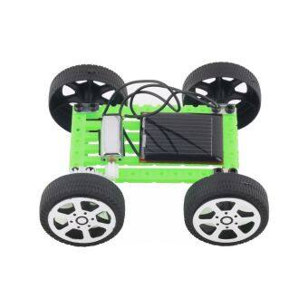 Harga Fancytoy 1Pcs DIY Car Children Educational Puzzle IQ Gadget Mini Solar Toy