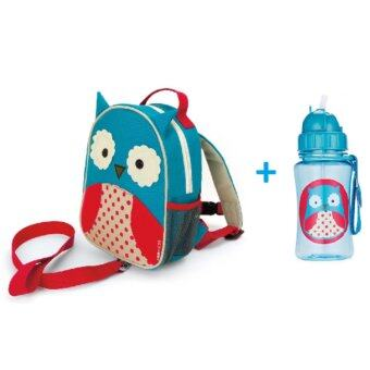 Harga Skip Hop- Zoo-Let Mini Backpack With Rein + Zoo Straw Bottle (Owl)