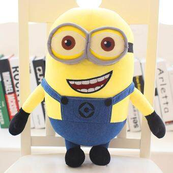 Harga Despicable me little Minions adorable plush toy doll eyes children pillow Girl Doll birthday gift