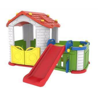 Harga TOYS STREET KOREA GIANT PLAY HOUSE WITH SLIDE & FENCE