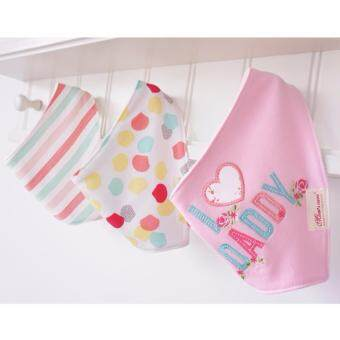 Harga LittleJump 3pcs/set Baby Bandana Bibs for girls and boys with absorbent Cotton, baby drool bandana bib set Fancy Triangle Scarf Suitable for 0-3 Years Baby