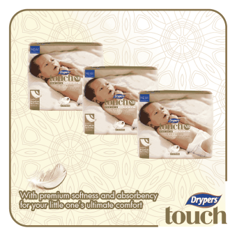 Harga Drypers Touch Mega Pack New Born 80's (3 packs)