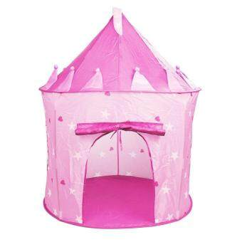Harga niceEshop Outdoor Indoor Ger Fairy Tale Castle Princess Play Tent Kids Pink Playhouse Gifts,Pink