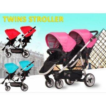 Harga Twin Stroller for your lucky 2 babies, Flexible position & Easy to use
