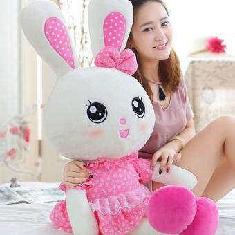 Harga SIZE 60 CM Rabbit plush toy doll doll cute girls Bunny Rabbit Doll Girl Child pillow