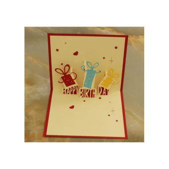 Harga 3D Happy Birthday Card PT011