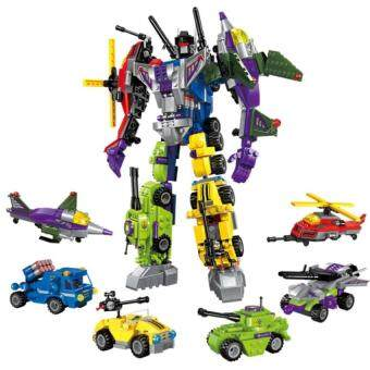Harga GDS With Package 6 Pcs/Set Transformation Robot Cars Autobots Primebruticus Toys Action Figures Block Toys For Kids Birthday Gifts