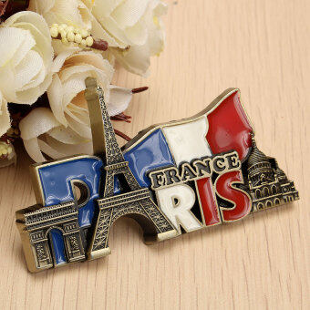 Harga Paris' Landmarks, France, Tourist Travel Souvenir 3D Metal Fridge Magnet Gift