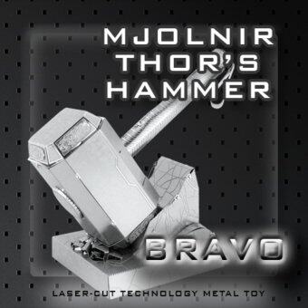 Harga Bravo 3D Metal Model Mjornir Thor's Hammer - MINI 3D Metal Puzzles for children Model kids Toys Metal stainless steel DIY assembly model 3D three-dimensional jigsaw puzzle