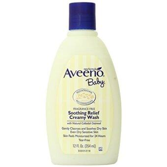 Harga Aveeno Baby Soothing Relief Cream Wash, 12 Ounce (Pack of 2)