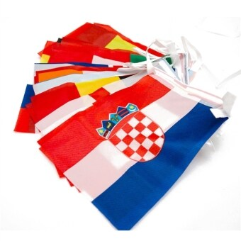Harga 2016 France Euro Cup String Flag 24 Countries Flags Bunting Flags Chain Flag 14*21cm