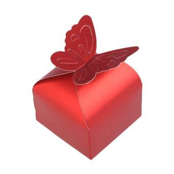 Harga Sweet 50 Pcs Butterfly Candy Box Wedding Party Festival Favor Gift Red