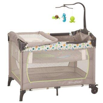 Harga Mamakiddies Portable Travel Cot Baby Cot Playpen Playard Under The Sea