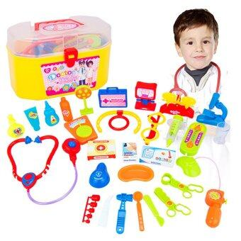 Harga Children Kid Plastic Simulation Pretend Play Doctor Medical Toy Kit Educational Toy Set with Case