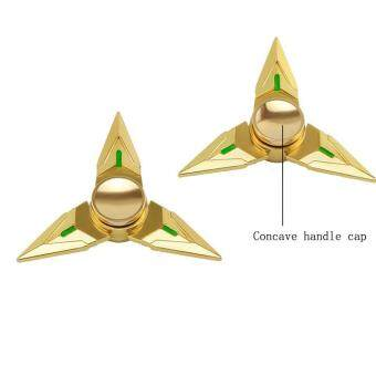 Harga Tri Fidget Hand Spinner Triangle Metal Finger Focus Toy ADHD Autism Kids/Adult Gold