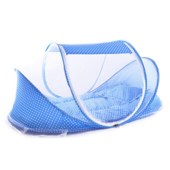 Harga PAlight Portable Foldable Baby Crib Mosquito Net Set (Blue)