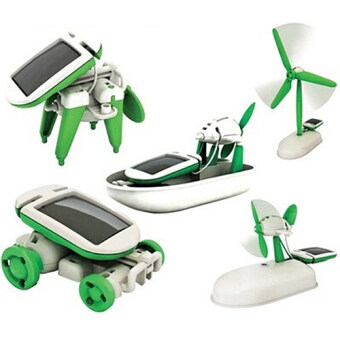 Harga Fancytoy 6 in 1 Solar Educational Kid Toy Boat Fan Car Robot Windmill Puppy