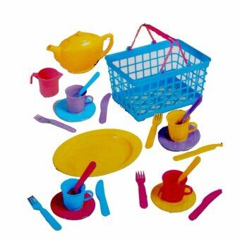 Harga Tea Set With Basket - 25 Pieces (For Age 3 Years +)