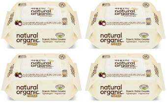 Harga Natural Organic Portable Premium Wipes with CAP (30 sheets x 4 packs)