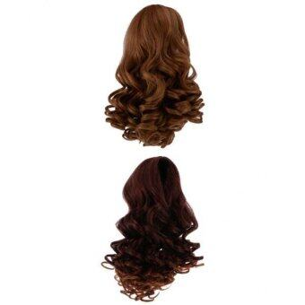 Harga BolehDeals 2 Pieces/Set Dolls Wavy Curly Hair Wig for 18inch American Doll DIY Making