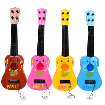 Harga Fancytoy 4 Strings Musical Plastic Kids Children Toy Ukulele Small Guitar
