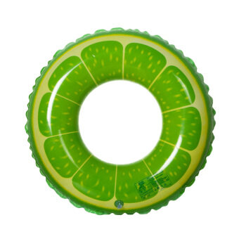 Harga YBC 60cm Fruit Style Inflatable Swimming Ring Floating Rings Swimming Laps Green