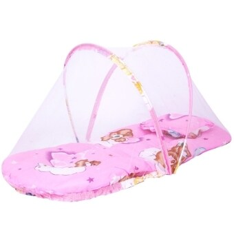 Harga Baby Dedee Foldable Insect Mosquito Net Protect Bed Tent children gift toy bed bedsheet (Pink)