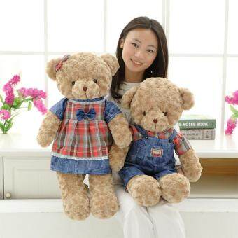 Harga 55cm Soft Stuffed Teddy Bear Plush Dolls Couple Doll Bears Birthday Gift,Man