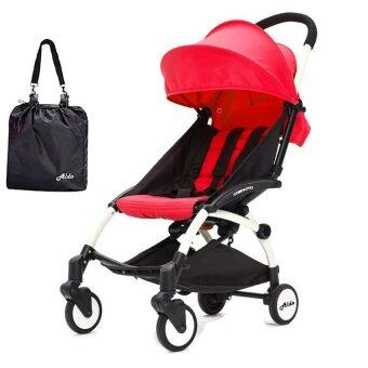 Harga Aldo Compatto Stroller New Version (with Bumper Bar & Cup Holder) - Red