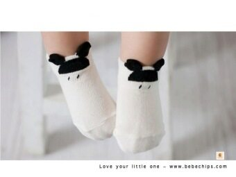 Harga Black & White Series Stylish Baby Socks (0-24 months) LITTLE ELF design