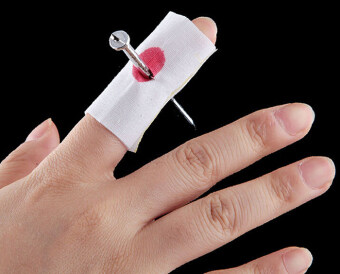 Harga Nail Through Finger Trick Magic Prop Bloody Prank Joke Toy(White)