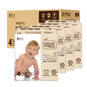 Harga Natural Organic Air-Fit Ultra Slim Size L 23 pcs (4 packets)
