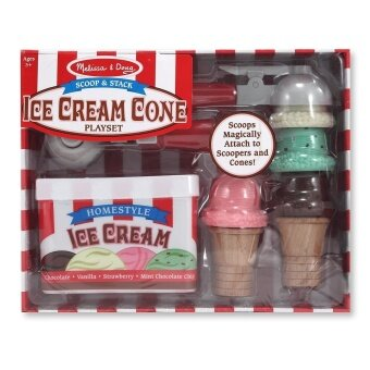 Harga Melissa And Doug Scoop And Stack Ice Cream Cone Playset