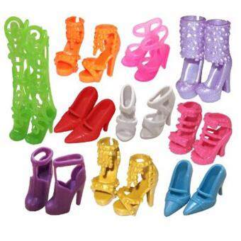 Harga Hequ Shoes Fashion Doll Shoes Heels Sandals for Barbie Dolls Outfit Dress Best Gift for Little Girl random color