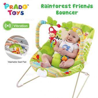 Harga PRADO Baby Rocker Bouncer New Born Toddler Music Chair wt Safety Belt TOY-AB50652
