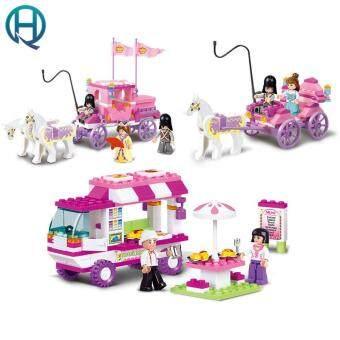 Harga Sluban Building Blocks Toys for Girls Royal Princess Carriage Snack Car Compatible Legoe Friends
