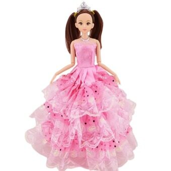 Harga Girl Dolls Toys Satin Wedding Party Dresses Outfits Doll Accessories for Barbie Toys Children Girls Birthday Gift G Style