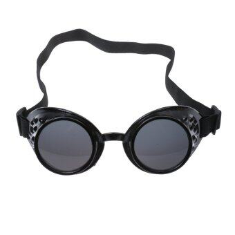 Harga BolehDeals Steampunk Goggles Glasses Victorian Welding Cosplay Goth Costume Black