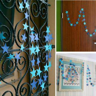 Harga 4m Glitter Paper Star Garland Party Decoration