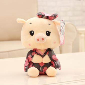 Harga The Pig Doll Wedding Kimono Doll Plush Toy Doll Cute Doll Machine Caught Throwing Wedding (23cm)