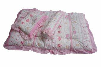Harga Little Hill 3 in 1 Baby Bedding Set - Pink