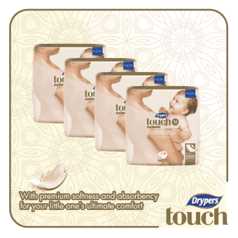Harga Drypers Touch Mega Pack Medium 64's (4 packs)