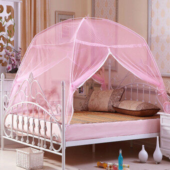 Harga Portable Hight QC Bedding Canopy Mosquito Net Tent Queen Size For Bed