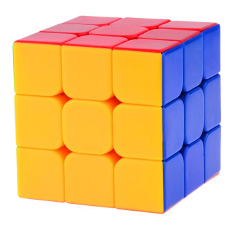 Harga LT365 YJ Yu Long 3x3x3 Stickerless Speed Cube Puzzle (55mm) Colorful