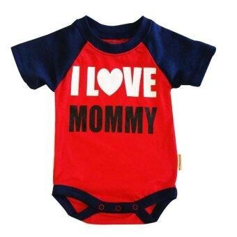 Harga Romper - I Love Mommy Red