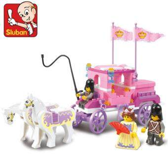 Harga Sluban Girls Dream The Royal Carriage Building Block Educational Toy Bricks Girl Childrens Day Gifts