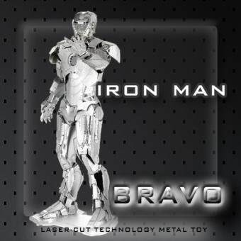 Harga Bravo 3D Metal Model Iron Man - MINI 3D Metal Puzzles for children Model kids Toys Metal stainless steel DIY assembly model 3D three-dimensional jigsaw puzzle