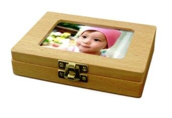 Harga Wooden Baby Tooth Collection Box